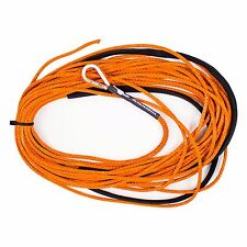 "Orange 50' x 3/16"" AmSteel-Blue Mainline Synthetic Winch Rope Line Thimble"