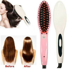 Thermostatic Electric Hair Straightener Comb Iron Brush Auto Hair Massager Tool