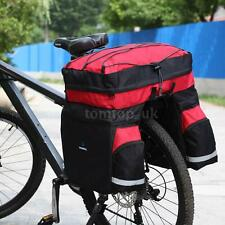 60L Bicycle Bag Bike Double Side Rear Rack Tail Seat Trunk Bag Pannier V6S4