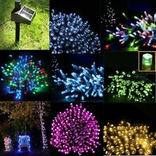 100/200/500 LED Solar Powered Fairy Lights String Party Xmas Wedding Garden ZF