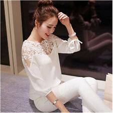 Loose New Blouse Long Sleeve Tops  Casual Summer  Ladies  Shirt Chiffon