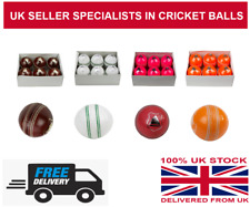 MATCH QUALITY CRICKET BALLs ALL COLOURS SENIOR MENS 5.5 OZ JUNIOR 4.5 OZ