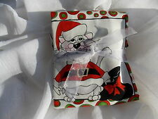 Kitty Christmas Panel Fat or 1/2 yard Bundle Holiday Cat Loralie fabric cotton