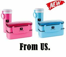 Lunch Box Set Lock&Lock Insulate Bottle Cup Bento Soup Containers Travel Picnic