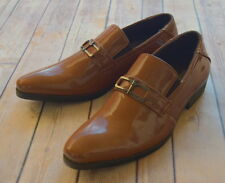 NICE ITALIAN STYLE MENS DRESS/CASUAL SHOES COLOR BROWN FINISH EXCELLENT QUALITY