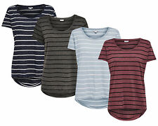 JDY by ONLY Ladies T-Shirt COAST S/S STRIPE TOP JRS short sleeve mullet NEW