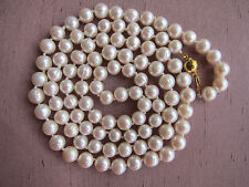 Long Cultured Pearl Necklace - 8/9 mm.