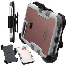 Frame Transparent Hybrid Holster Combo Rotating Swivel Belt Clip Case Hard Cover