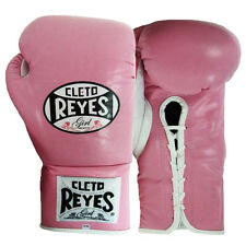 Cleto Reyes Women's Official Lace Up Fight Boxing Gloves - Pink
