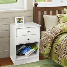 Modern Bedside With 2 Drawers Wooden Cabinet Side Table Nightstand Storage Unit