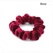 2 Pcs Women Hair Scrunchie Scrunchy Hairtie Elastic Ponytail Holder Accessories