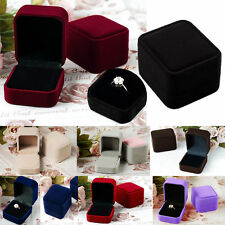 Wholesale Lots 7 Colors Romantic Velet Heart Ring Gift Boxes Jewelry Supplies