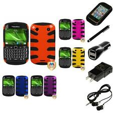 For BlackBerry Bold Touch 9900 9330 Hybrid Hard Soft Armor Case Headphones
