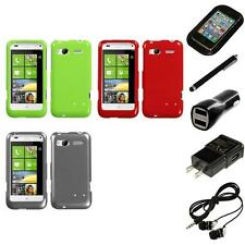 For HTC Radar 4G / Omega Rigid Plastic Hard Snap-On Case Phone Cover Headphones