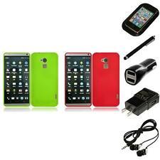 For HTC One Max Rubberized Matte Snap-On Hard Case Phone Cover Headphones