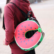 Fruit U Shaped Comfort Travel Pillow Twist Neck Back Head Pillow Cushion Release