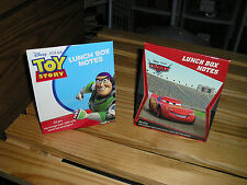 Lunch Box Notes. Toy Story OR Disney Cars. New. 20 pc. set. GREAT for SCHOOL
