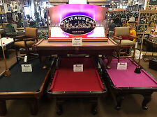MASTER ZS POOL TABLE MADE BY OLHAUSEN 4 STYLES 30 COLORS 7' OR 8' FREE SHIPPING
