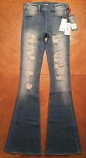 NWT $199.00 True Religion Womens Blue Runway Legging Flare Jeans.......