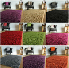 SMALL LARGE M SIZE THICK PLAIN SOFT SHAGGY RUGS NON SHED 5cm PI MODERN RUGS DM