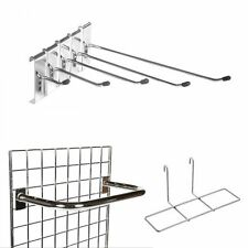 GRID WALL GRIDWALL MESH CHROME RETAIL SHOP DISPLAY PANEL ACCESSORY HOOK ARM ARDK