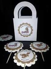 Scooby Doo Birthday Party Set Cupcake Toppers treat bags stickers Party in a Box