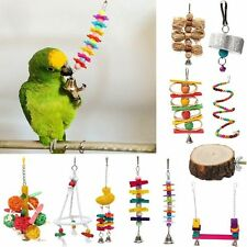 ROPE BOING COIL SWING BIRD PET TOY parrot cage toys cages conure cockatiel NEW