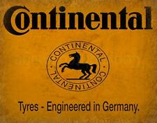 CONTINENTAL TYRES ADVERTISEMENT VINTAGE GARAGE METAL TIN SIGN POSTER WALL PLAQUE