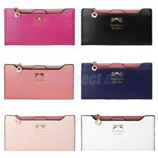 Women Purse PU Leather Zipper Clutch Ladides Wallet Card Bag for Evening Party