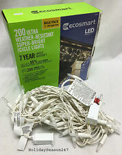 Ecosmart 200 LED Commercial Grade Super Bright icicle Holiday Christmas Lights