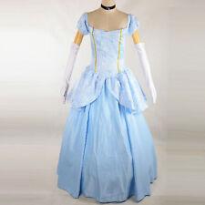 Adult Princess Cinderella Cosplay Outfit Ball Gown Party Costume Fancy Dress New