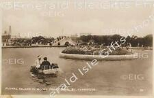 Norfolk Great Yarmouth Floral Island in Model Yacht Pond Old Photo Print