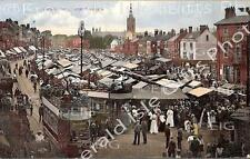 Norfolk Great Yarmouth a very busy Market Place colour Old Photo Print