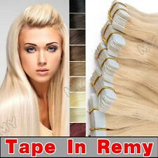 Tape In Brazilian Real 100% Remy Human Hair Extensions Skin Weft Seamless BS011