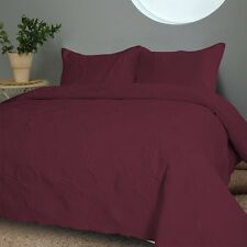 NEW Twin Full Queen Cal King Bed Burgundy Wine 3 pc Coverlet Quilt Bedspread Set