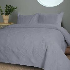 NEW Twin Full Queen Cal King Bed Gray Grey 3 pc Coverlet Quilt Bedspread Set NWT