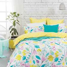 New Bambury Rosalyn Queen Size Quilt / Doona Cover Set 3 or 5 Pce Set Cotton