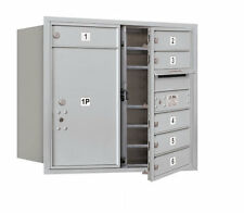 6 Door Front Load 4C Horizontal Mail Center with 1 Parcel Locker