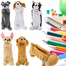 Plush Doll puppy Pencil Pen Bag Case Cosmetic Pouch Brush Holder Makeup Bag