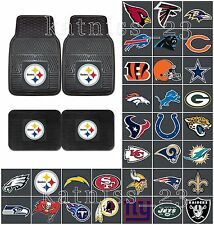 NFL Heavy Duty Vinyl Car Mats * ALL TEAMS AVAILABLE * Rubber Front or Rear Floor