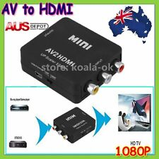 Composite AV CVBS 3RCA to HDMI Video Converter Adapter 1080p Up Scaler AU Stock!