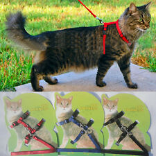 Adjustable Flexible Nylon Harness Collar Leash Lead for Small Pet Dog Puppy Cat