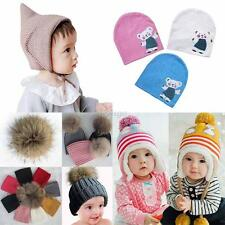 Infant Toddler Kids Baby Boy Girl Warm Winter Hat Knit Crochet Cotton Cap D50