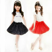 Princess Dressup Party Costume Bling Sequin Tulle Tutu Skirt Ballet Dancewear