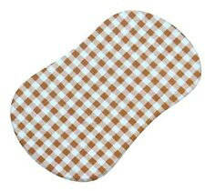 Sheetworld Gingham Check Fitted Bassinet Sheet