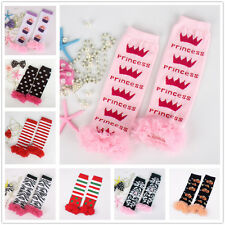 Toddler Baby Girl Warm Leggings Ruffle Trim Leg Warmers Socks Cotton Party Photo
