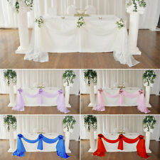 Table Swags Sheer Organza Fabric DIY Feast Wedding Party Bow Decorations TP
