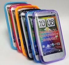 PLAIN RUBBER GEL SILICON CASE/COVER For HTC SENSATION XL RUNNYMEDE X315E/G21 UK