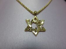 """14 KT GOLD PLATED ROPE CHAIN WITH A JEWISH STAR CHARM,SIZES 16""""-24""""-2031"""