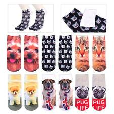 Cotton 3D Printed Animal Dog Cat Ankle Socks Low Cut Cute Lovely Casual Boy Girl